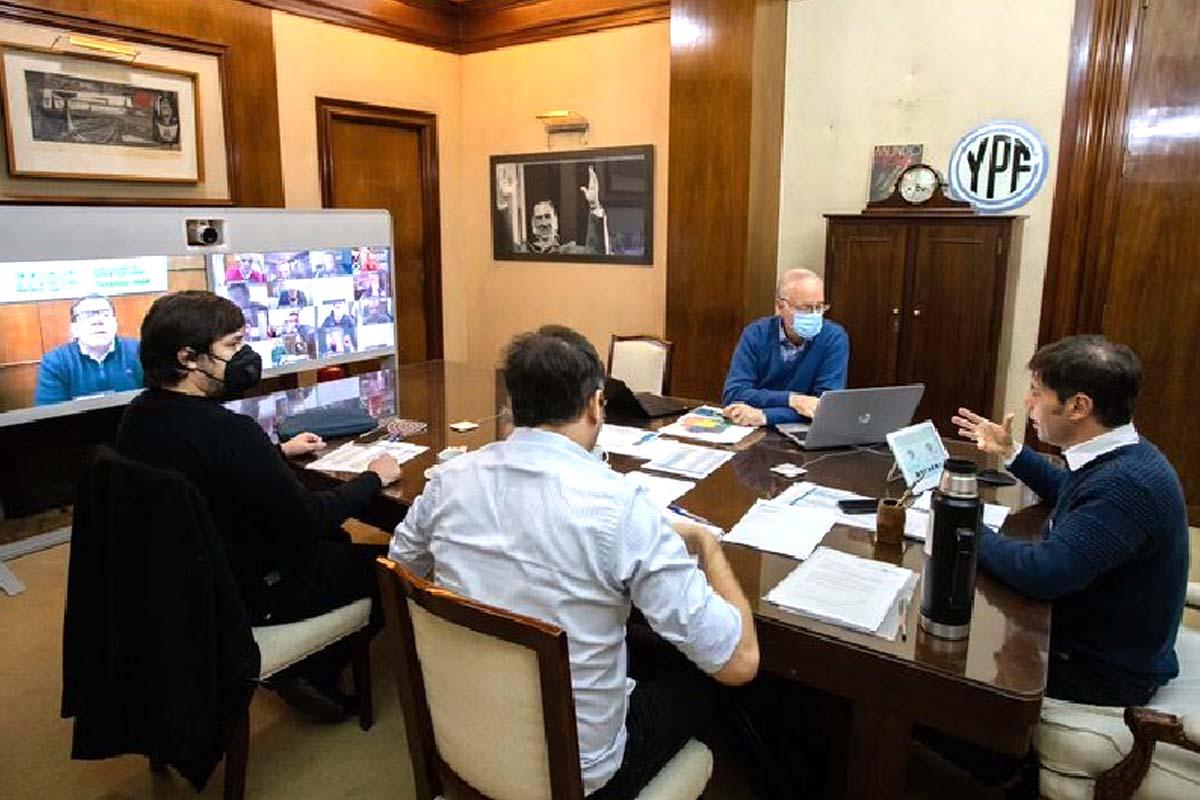 Gustavo Traverso senador reunión con Axel Kicillof
